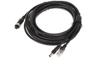 WL4 5M-CABLE-RJ45-A 5 meter aansluitkabel voor IP camera aan NVR met RJ45, DC en 6 pin M12 connector