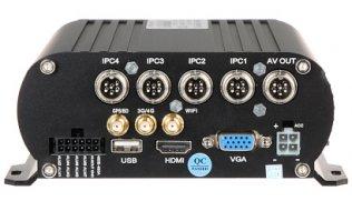 WL4 NVR-M-R mobiele NVR recorder 4 kanalen Full HD met PoE, WiFi, GPS, 4G, HDMI, VGA, USB, Alarm I/O, RS485, HDD slot en 2x SD slot