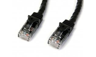 Netwerkkabel Cat6 Gigabit UTP patchkabel met 100% koper kern 22,9 meter zwart