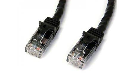 Netwerkkabel Cat6 Gigabit UTP patchkabel met 100% koper kern, 1 meter zwart