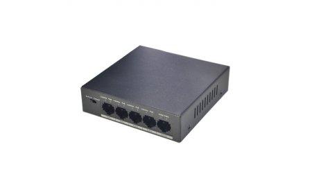 Dahua PFS3005-4P-58 4 poort 802.3af/at PoE switch met VLAN 250m bereik