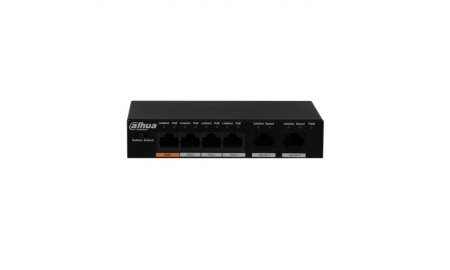 Dahua PFS3006-4ET-60 4 poort 802.3af/at PoE en Hi-PoE switch met 2 uplink poorten en 250m bereik