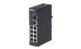 Dahua PFS3110-8P-96 802.3af/at High Power over Ethernet (PoE+) switch met 8 poorten