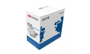 Hikvision DS-1LN5E-E/E Netwerkkabel Cat5e Gigabit UTP met 100% koper 24AWG stugge kern op rol 305m