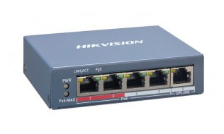 Hikvision DS-3E1105P-EI Pro-serie 4 poort Fast Ethernet Smart managed POE switch