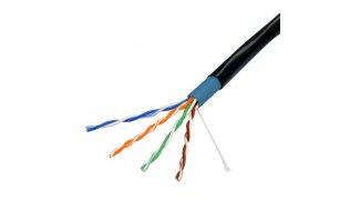 Safire UTP5E-300-OUTDOOR Netwerkkabel Cat5e UTP geschikt voor buiten 24AWG stugge kern op rol 305m