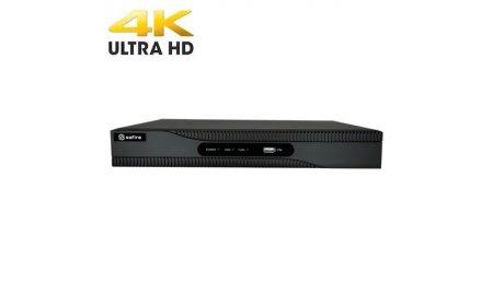 Safire SF-NVR6208-A8P-4K 8 kanaals PoE UltraHD 4K Netwerk Video Recorder met 2x HDD, HDMI en audio en alarm ingang/uitgang
