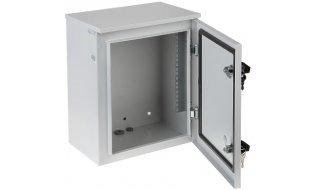 """WL4 SR10WO6U-W metalen 6U 10"""" rack kast geschikt voor buiten muur of paal montage met 2 sleutelsloten"""