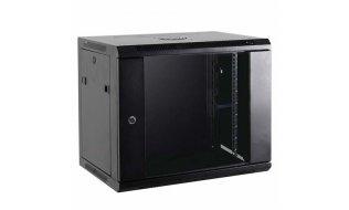 """WL4 SR6U-B Server wandkast 6U 19"""" met ventilator, voeding, deur met gehard glas en slot"""