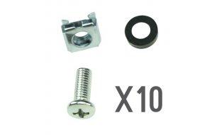 WL4 SRSS-10 set van 10 moeren, bouten en ringen voor rack bevestingen