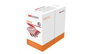 Hikvision DS-1LN6-UU Netwerkkabel Cat6 Gigabit UTP met 100% koper 23AWG stugge kern op rol 305m