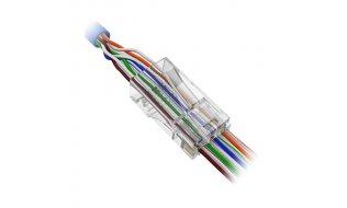 WL4 CON-RJ45-CAT6-EZ niet afgeschermde RJ45 modulaire EZ connector CAT6 per 50 stuks
