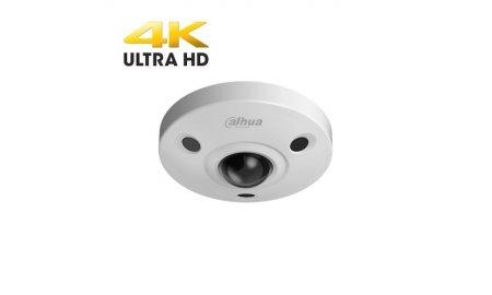 Dahua IPC-EBW81230 Ultra 4K HD 12MP buiten panoramische fisheye dome camera met microfoon, IR nachtzicht en SD slot