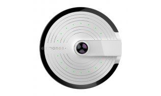 Smanos PT-180H UFO Panorama WiFi Full HD camera met 360 graden fisheye lens, audio, nachtzicht en microSD
