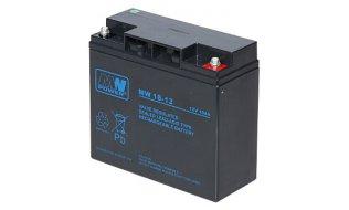 WL4 SB-12-180 accu 12VDC 18Ah voor bijvoorbeeld een zonnepaneel, alarm, UPS of toegangscontrole installatie