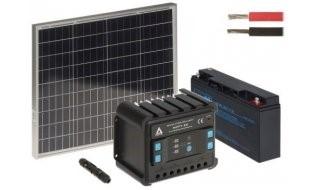 WL4 SOLAR-KIT-200B50-20 complete zonne-energie kit met 12V 20Ah accu, snoer, 50W zonnepaneel en controller