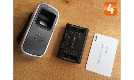 Anviz M5 biometrisch vandaalbestendige vingerafdruk en kaart lezer voor buiten of binnen TCP/IP inclusief SC011 controller