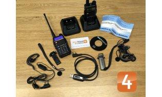 Baofeng UV-5RUP-SET 8 Watt Dual band professionele portofoon set met 2 radio transceivers, een USB datakabel en software
