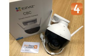 EZVIZ C8C 2MP Full HD WiFi PT camera met wit strobe LED, IR nachtzicht, microfoon en microSD slot