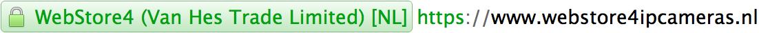 SSL EV WebStore4 IP CAMERAS