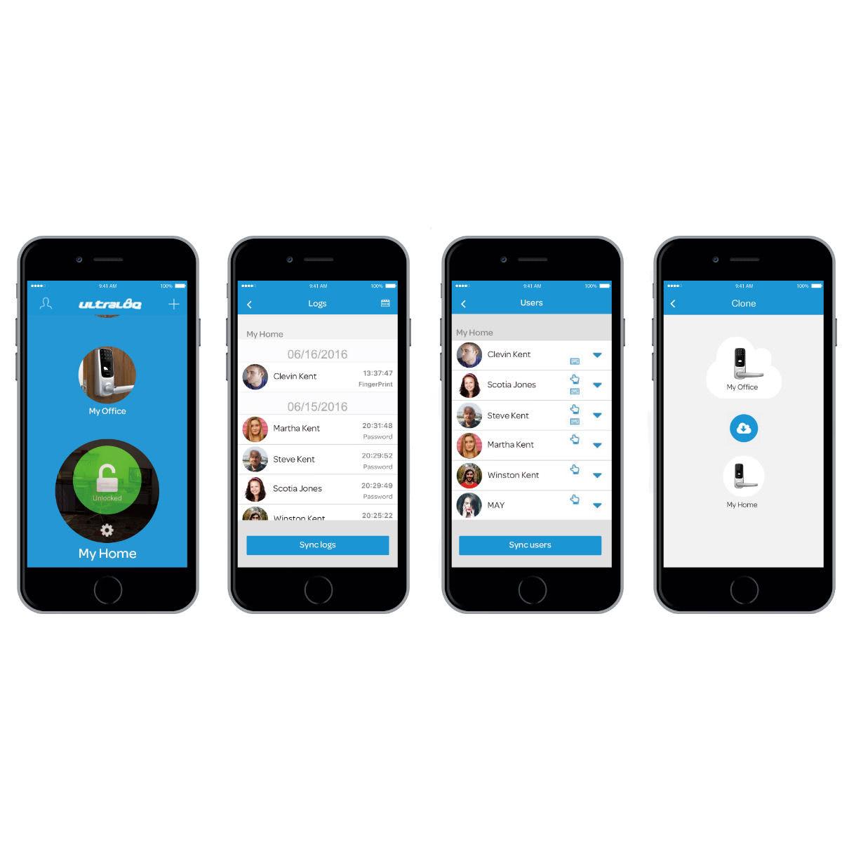 U-tec Ultraloq UL3 BT smartphone app